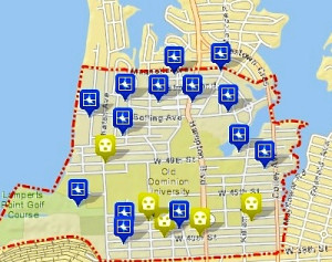 Burglaries and robberies near O.D.U. during the 2012-13 academic year.